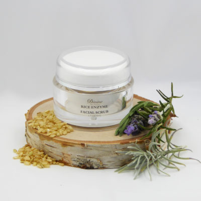 rice enzyme facial scrub